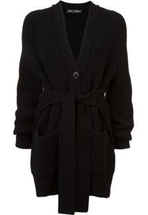 Proenza Schouler Cardigan Com Amarração - Preto