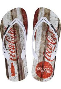 Chinelo Coca Cola Retro Wood 64597012