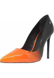 Sapato Feminino Scarpin Shepz Verniz Bicolor Multicolorido