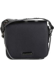 Bolsa Shoestock Mini Bag Tiracolo Metais Feminina - Feminino-Preto
