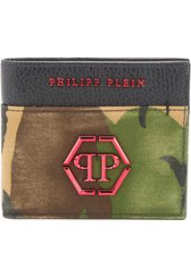 Philipp Plein Carteira Camuflada - Verde
