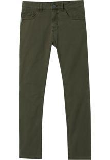 Calça John John Skinny Byron Sarja Verde Militar Masculina (Verde Militar, 44)