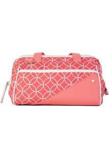 Bolsa Grace- Coral & Branca- 22X31X26Cm- Paccobypaccoby