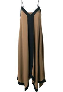 Fabiana Filippi Vestido Longo De Seda - Marrom