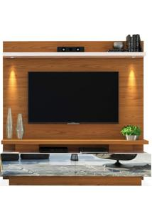 Estante Home Theater Para Tvs Até 70 Polegadas, Carvalho Americano Com Off White, Axel