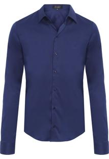 Camisa Masculina Lar Str - Azul