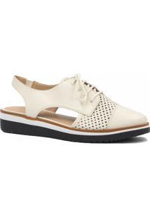 Sapato Zariff Shoes Oxford Vazado Branco
