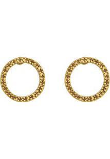 Par De Brincos Banhado A Ouro Arredondado- Dourado- Vincenzo Di Fiori
