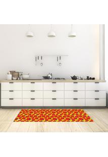 Tapete De Cozinha Mdecore Tomate Amarelo 40X120Cm