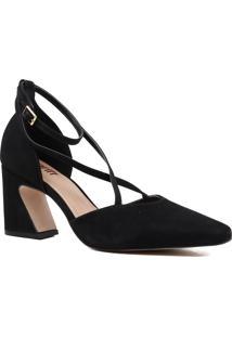 Sapato Feminino Scarpin Zariff Salto Grosso