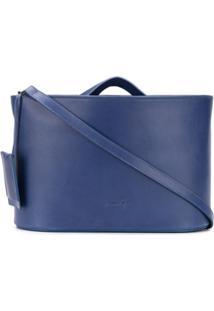 Marsèll Bolsa Transversal Com Logo Gravado - Azul