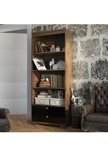 Estante Para Livros C603 Np Nobre/Preto - Dalla Costa