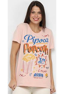Camiseta Farm Pipoca Feminina - Feminino-Rosa