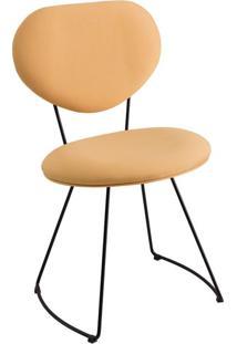 Cadeira Milão Meia Lua Linho Amarelo
