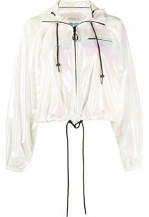 Kenzo Faded Cropped Jacket - Branco