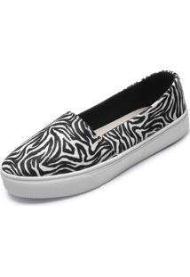 Alpargata Fiveblu Zebra Branco