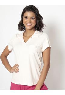 Blusa Listrada Com Termocolantes- Off White & Laranja