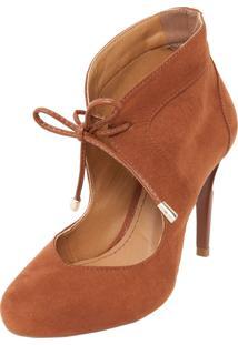 Ankle Boot Fiveblu Amarração Caramelo
