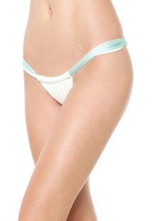 Calcinha Blue Man Tanga Super Tri Off-White