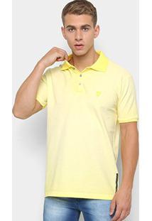 Camisa Polo Piquet Opera Rock Básica Masculina - Masculino-Amarelo