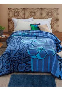 Cobertor Casal Jolitex Azul