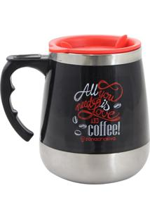 Caneca Zona Criativa Térmica All You Need Is Love And Coffee