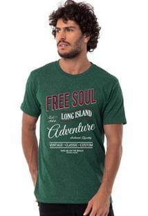 Camiseta Long Island Sancho Masculina - Masculino-Verde