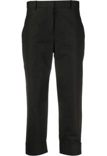 The Row Cropped Slim-Fit Trousers - Preto