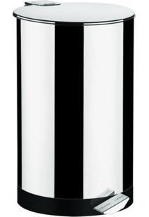 Lixeira Inox 40 Litros Com Pedal