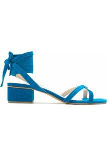 Eva Sandália Color Com Amarração - Azul