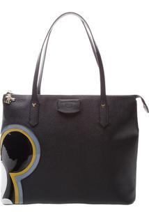 Bolsa Mickeyâ® Com Recortes - Preta & Azul- 28X34X14Carezzo & Co.