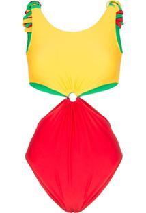 Paper London Maiô Com Recorte 'Barbuda' - Multicoloured