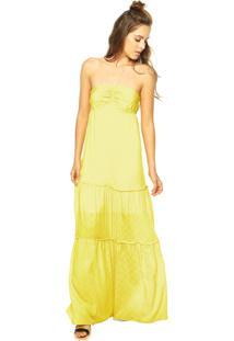 0382ba716 R$ 194,99. Dafiti Vestido Longo Colcci Franzido Amarelo