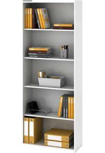 Estante Para Livros Biblioteca M Esm 201 Branco - Móvel Bento
