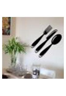 Adesivo Decorativo Para Cozinha Talheres 2 - Extra Grande