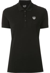 Ea7 Emporio Armani Camisa Polo Com Logo - Preto