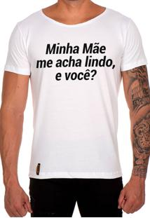 Camiseta Lucas Lunny T Shirt Gola Canoa Minha Mãe Me Acha Lindo