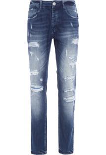 Calça Masculina Skinny Loyola - Azul