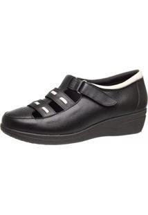 Sapato Anabela Doctor Shoes 188 Preto - Tricae