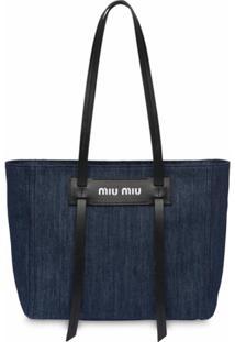 Miu Miu Bolsa Jeans 'Grace Lux' - Azul