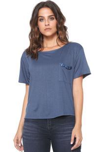 Camiseta Lança Perfume Pedraria Azul