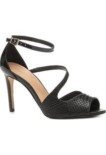 Sandália Shoestock Salto Fino Snake Feminina - Feminino