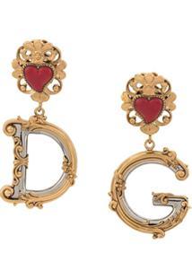Dolce & Gabbana Par De Brincos D&G - Dourado