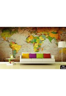 Papel De Parede 3D Mapa Mundi, Mapas, Cidades, Montanhas, Florestas, Cachoeiras, Paisagens Adesivo Decorativo Painel Fotográfico - Confeccionamos Sob