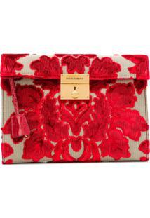 Dolce & Gabbana Brocade Clutch - Vermelho