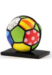 Escultura Romero Britto Bola Soccer Resina Trevisan Concept