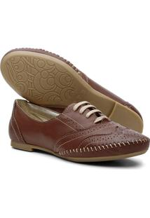 Sapato Oxford Mocassim Casual - Chocolate - Tricae