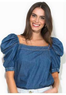 Blusa Jeans Azul
