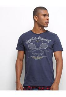 Camiseta Colcci Royal Ancient Masculina - Masculino-Azul Escuro
