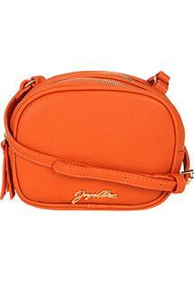 Bolsa Jorge Alex Mini Bag Ombro Fechamento Duplo Feminina - Feminino-Laranja